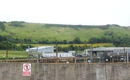 Eurotunnel Le Kursujący stacja obsługi Folkestone UK zdjęcia royalty free