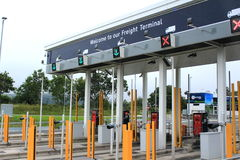 Eurotunnel Service check in booths Royalty Free Stock Images