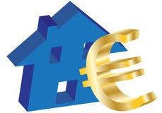 euroutgångspunkt royaltyfri illustrationer
