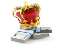 Eurovaluta med kronan vektor illustrationer