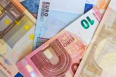 Eurovalutabakgrund Royaltyfri Bild