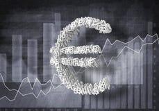 Eurovalutahastighet, tolkning 3D Arkivfoton