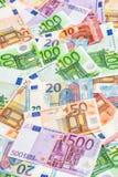 Eurovalutasedlar 5000 roubles för modell för bakgrundsbillspengar Affär Royaltyfri Bild