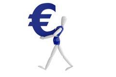 Eurovalutavit man Arkivfoton