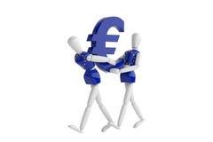 Eurovalutavit man Fotografering för Bildbyråer