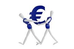 Eurovalutavit man Royaltyfri Fotografi
