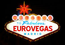 Eurovegas. Project in madrid (Spain), at night Stock Photography