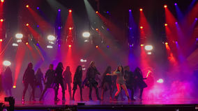 Eurovisie in de Oekraïne, Kyiv 05 13 2017 redactie Ruslanazonden Royalty-vrije Stock Foto's