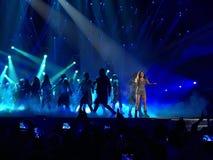 Eurovisie in de Oekraïne, Kyiv 05 13 2017 redactie Ruslanazonden Royalty-vrije Stock Foto