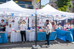 Eurovisie-Dorp De Oekraïne, Kyiv 05 05 2017 redactie Papawi Stock Foto
