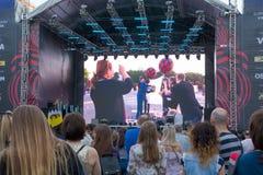 Eurovision by i Kyiven i Ukraina 07 05 2017 Editoria Royaltyfri Fotografi