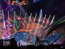 Eurovision i Ukraina, Kyiv 05 13 2017 ledare Eurovisien Royaltyfri Bild