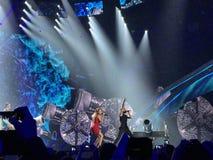 Eurovision i Ukraina, Kyiv 05 13 2017 ledare Eurovisien Royaltyfria Foton