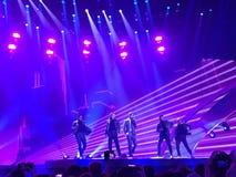 Eurovision i Ukraina, Kyiv 05 13 2017 ledare Eurovisien Arkivbild