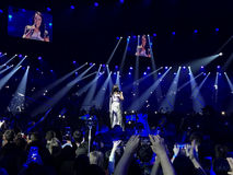 Eurovision i Ukraina, Kyiv 05 13 2017 ledare Jamala sinsi Royaltyfri Bild