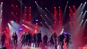 Eurovision i Ukraina, Kyiv 05 13 2017 ledare Ruslana synder Royaltyfri Bild