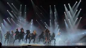 Eurovision i Ukraina, Kyiv 05 13 2017 ledare Ruslana synder Arkivbild