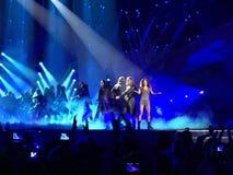 Eurovision i Ukraina, Kyiv 05 13 2017 ledare Ruslana synder Fotografering för Bildbyråer