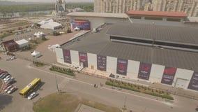 Eurovision 2017 Kiev Ukraine arena exclusive aerial drone footage 06.05.2017. Eurovision 2017 Kiev Ukraine arena exclusive aerial drone footage UHD 4K stock footage