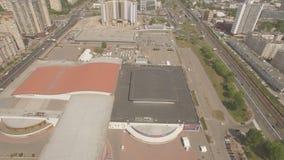 Eurovision 2017 Kiev Ukraine arena exclusive aerial drone footage 06.05.2017. Eurovision 2017 Kiev Ukraine arena exclusive aerial drone footage UHD 4K stock video