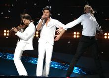 Eurovision-Lied, Russland, Dima Lizenzfreies Stockfoto