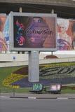 Eurovision-Reklameanzeige Stockfotografie