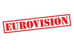 EUROVISION Rubber stämpel Fotografering för Bildbyråer