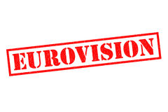 EUROVISION Rubber Stamp Stock Image