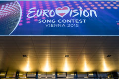 Eurovision Song Contest 2015 in Vienna, famous european music co Stock Images