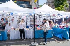 Eurovision Village. Ukraine, Kyiv. 05.05.2017. Editorial. Dad wi Stock Photo