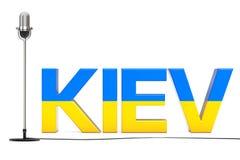 Eurovisions-Lied-Wettbewerb 2017 in Ukraine Wiedergabe 3d Lizenzfreies Stockfoto