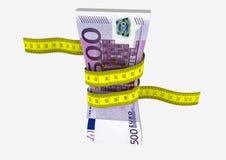 Eurowährung 3D mit Scheren vektor abbildung