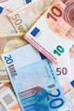 Eurowährungshintergrund Stockfoto