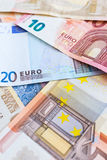 Eurowährungshintergrund Lizenzfreies Stockfoto