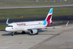 Eurowings Airbus A320 airplane Dusseldorf airport Stock Photography