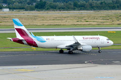 Eurowings Airbus A320-214/D-AEWC Imagens de Stock Royalty Free
