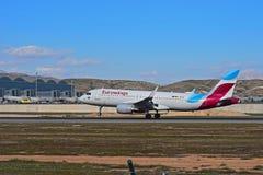 Eurowings passagerare Jet Touches ner royaltyfria foton