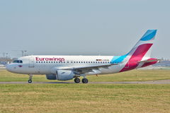 Eurowings plane view Royalty Free Stock Images