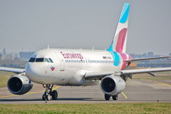 Eurowings plane view Stock Images