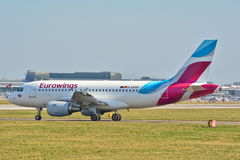 Eurowings plane view Royalty Free Stock Image