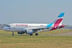 Eurowings plane view Stock Image