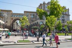 Eurowizyjna wioska historyczny architektury kyiv muzealny plenerowy Ukraine 05 05 2017 editorial ludzie Zdjęcie Stock