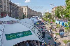 Eurowizyjna wioska historyczny architektury kyiv muzealny plenerowy Ukraine 07 05 2017 editorial ludzie Obraz Royalty Free