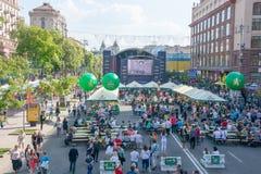 Eurowizyjna wioska w Kyiv w Ukraina 07 05 2017 Editoria Zdjęcia Stock