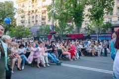 Eurowizyjna wioska w Kyiv w Ukraina 07 05 2017 Editoria Obraz Stock