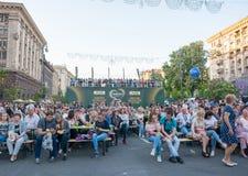 Eurowizyjna wioska w Kyiv w Ukraina 07 05 2017 Editoria Zdjęcie Royalty Free
