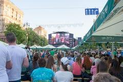 Eurowizyjna wioska w Kyiv w Ukraina 07 05 2017 Editoria Zdjęcia Royalty Free