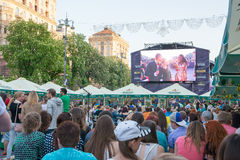 Eurowizyjna wioska w Kyiv w Ukraina 07 05 2017 Editoria Obraz Royalty Free
