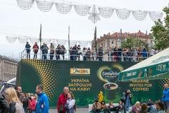 Eurowizyjna wioska w Kyiv w Ukraina 05 12 2017 Editoria Obrazy Royalty Free