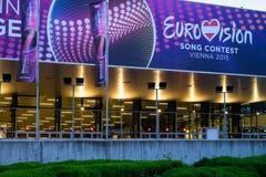 Eurowizyjnej piosenki konkurs 2015 w Wiedeń, sławna europejska muzyka co Fotografia Stock